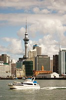 Partial view of Auckland  New Zealand