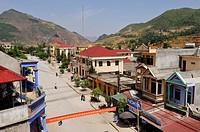 main street of Dong Van, Ha Giang province, northern Vietnam, southeast asia