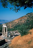 Greece, Delphi, Tholos, Temple of Athena Pronaia, World Heritage Site
