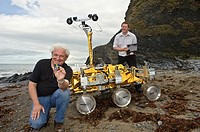Dave Barnes, Professor of Space and Planetary Robotics, and research associate Dr Stephen Pugh with the PanCam instrument calibration and image proces...