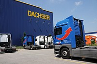 Truck before forwarding Dachser in Memmingen