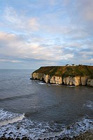 Clifftop Houses at Flamborough Head Yorkshire England