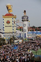 Crowds at the Oktoberfest in Munich