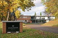 The Wedgwood Pottery factory, company headquarters, Barlaston, Stoke-on-Trent, Staffordshire
