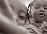 close_up african american toddler girls