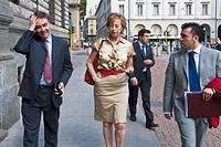 21 07 2010, Milan, the mayor Letizia Moratti in Piazza della Scala