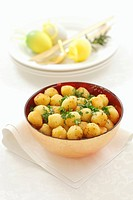 Deep_fried potato balls with parsley for Easter