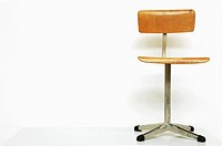 still life with chair, on white background