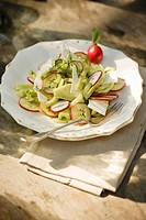 Insalata romana Celery and fennel salad with Ricotta Salata
