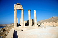 Acropolis temple and buildings, Lindos, Rhodes, Greece