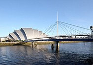 River Clyde and SECC Armadillo & Bells Bridge Glasgow