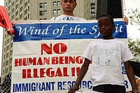 The 'We Are All Arizona' march in NYC on July 29th, Brooklyn-Manhattan, Protesting the SB 1070 Arizona Law