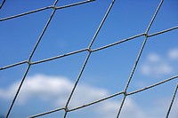 Close_up of a goal net