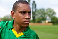 Brazilian soccer player, portrait