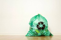 Garbage bag with recycling symbol, Germany
