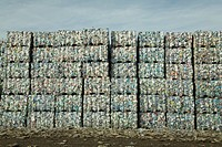 Stacks of recyclable waste, Germany
