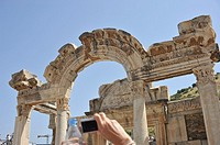 Ephesus, Turkey. Ancient Greek fes, Turkish Efes was an ancient Greek city, and later a major Roman city, on the west coast of Asia Minor, near presen...