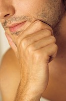 Man resting his Chin with one Hand _ Three_Day Beard _ Masculinity