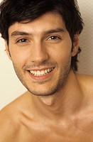 Portrait of a Darkhaired Man _ Happiness _ Smile _ Facial Expression