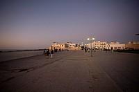 Medina quarter of Essaouira, Morocco at twilight