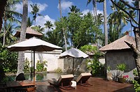 Jimbaran (Bali, Indonesia): the private pool at a villa at the Jimbaran Puri Bali luxury resort