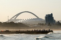 Durban South Africa Beachfront and Moses Mabhida Stadium
