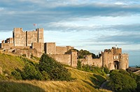 Dover Castle at Dawn, South East England