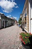 street view in old city, Porvoo Finland