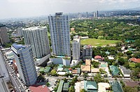High rise residential buildings and the WackWack Golf & Country Club in Mandaluyong City  metro manila  philippines