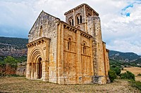 Romanesque Church of San Pedro de Tejada (12th century). Puente-Arenas. Burgos province. Castilla y Leon. Spain.