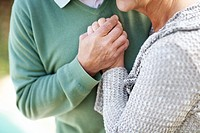 Cropped image of senior couple spending romantic time together