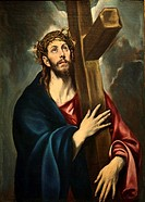 Christ Carrying the Cross, ca 1580, by El Greco (Doménikos Theotokópoulos), Oil on canvas, Greek, Spanish, Oil on canvas, 41 5/16 x 31 1/8 in 105 x 79...