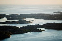 Aerial view of an archipelago, Sweden.