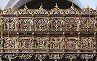 Denmark, Zealand, Roskilde, Cathedral, interior, balcony,