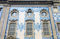 Blue facade in Port, Portugal