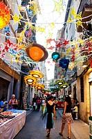 Gracia Summer Festival, Barcelona, Catalonia, Spain