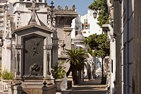 Buenos Aires, Argentina, Tombs And Mausoleums In Recoleta Cemetery