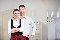 Couple running a restaurant