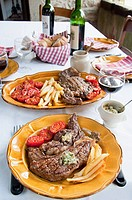 Entrecote steak and fries