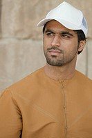 Middle Eastern man wearing cap, portrait
