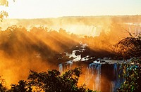 Iguazu Falls. Argentina. Brazil. Paraguay. South America