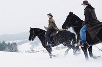Riding horses in Winter
