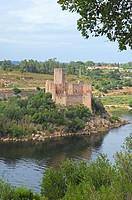 Almourol, Templar Castle and River Tejo, Ribatejo District , Near Tomar, Portugal Europe.