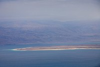 Photograph of the Dead sea in the winter
