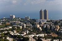 Aerail photograph of the city of Haifa