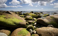 Photograph of the Ireland's coastline at low tide