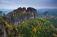 Rock formations in Saxon Switzerland National Park