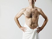 Man wearing towel (thumbnail)