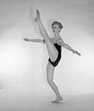 Female ballet dancer in leotard