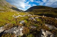 Scotland, Scottish Highlands, Cairngorms National Park  Looking towards the Lairig Ghru from the foothills of the Lurchers Crag